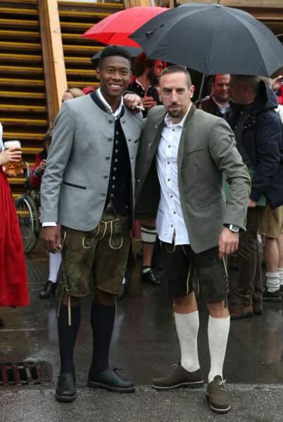 Franck Ribéry et son coéquipier David Alaba, international autrichien, sont inséparables !