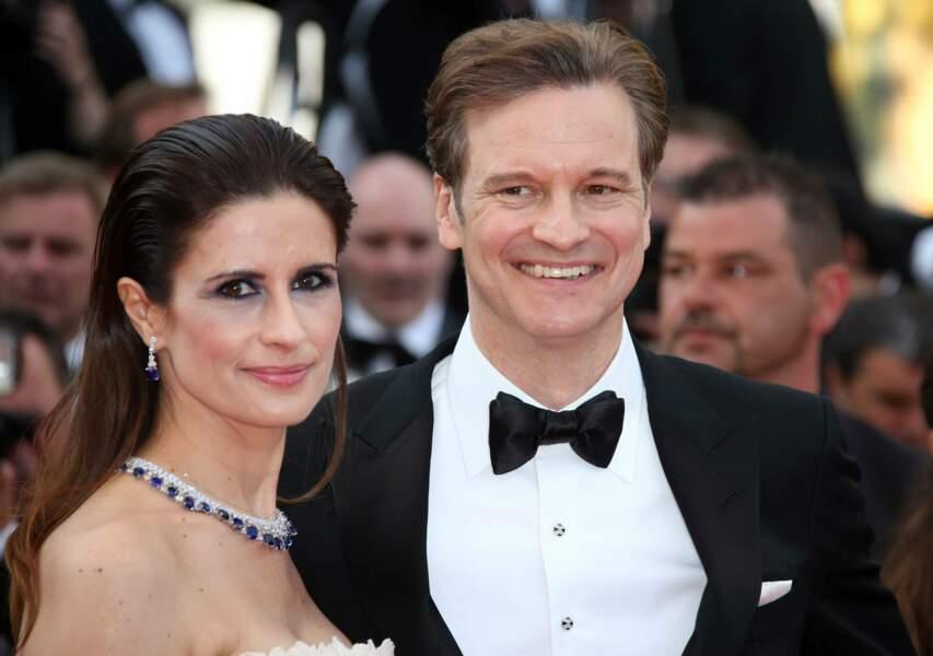 Colin Firth et madame, ravis !