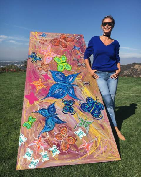 De son côté, Heidi Klum a customisé une table pour l'Unicef. On la lui laisse volontiers.
