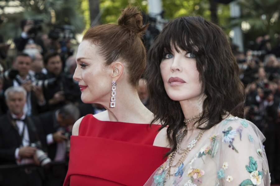 Aux côtés de Julianne Moore à Cannes en 2018