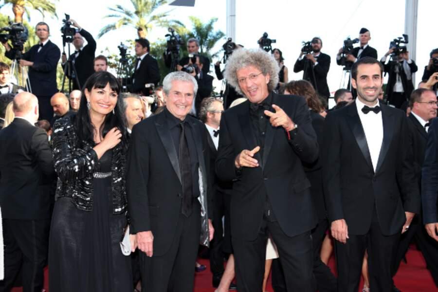 Les réalisateurs Claude Lelouch et Elie Chouraqui