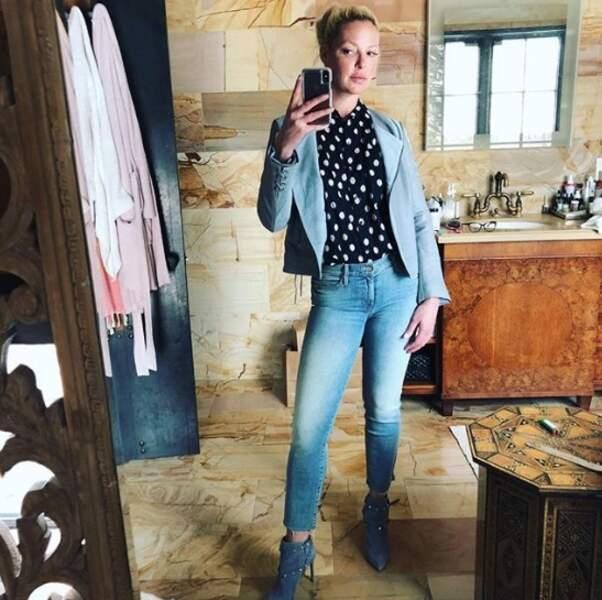 Katherine Heigl s'est prise pour une instagrammeuse mode.