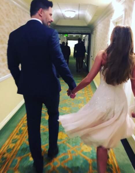 Le nouveau couple, main dans la main