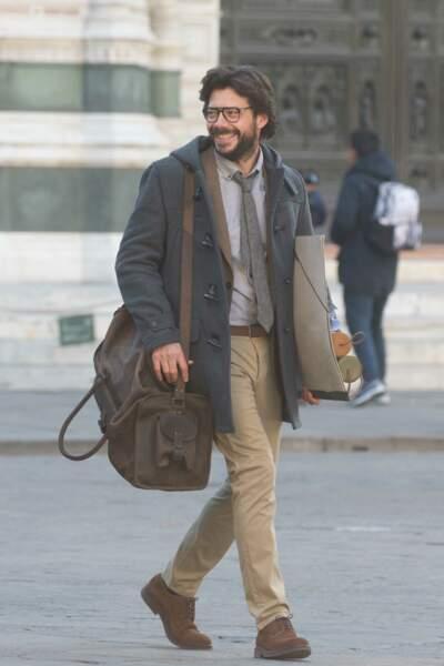 Voici l'acteur espagnol sur le tournage de la 3ème saison de la série Netflix