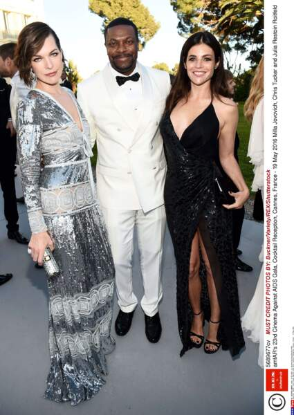 Milla Jovovich a croisé l'acteur Chris Tucker ainsi que Julia Restoin Roitfeld