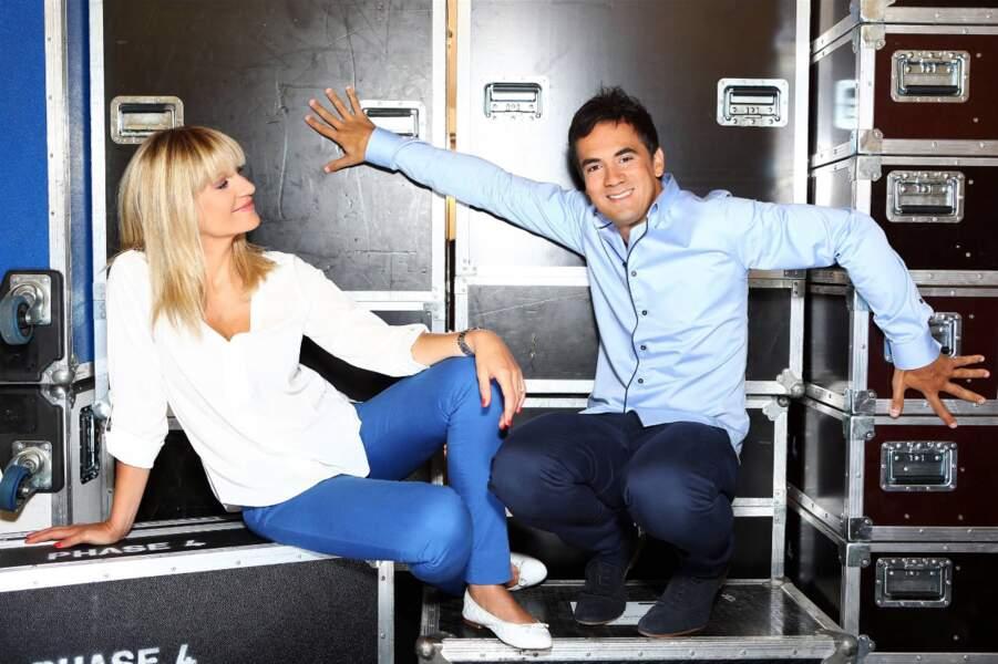 Alex Goude et Sandrine Corman forment le binôme de présentateurs depuis 2009