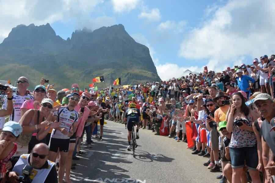 On peut toujours compter sur le public pour encourager les cyclistes