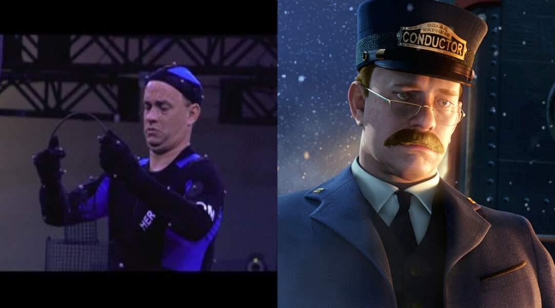 Ici en chef de train, Tom Hanks sur le tournage de Pôle Express, Robert Zemeckis (2004)
