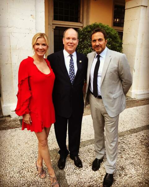 Katherine Kelly Lang et Thorsten Kaye, LE couple mythique d'Amour, Gloire et Beauté, avec le Prince Albert