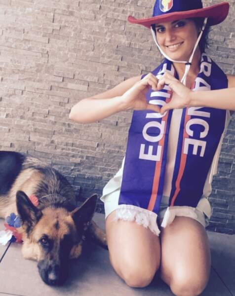Laetitia Milot a affiché son soutien pour les Bleus, malgré son berger allemand