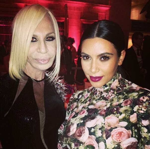 Avec Donatella Versace.
