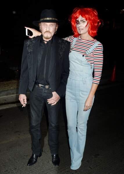 Autre Chucky : Laeticia Hallyday, aux côtés de son cher Johnny... en zombie ?