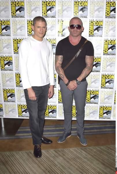 Dominic Purcell était aussi là bien sûr pour Prison Break avec Wentworth Miller. Et il lui a piqué ses tatouages ?