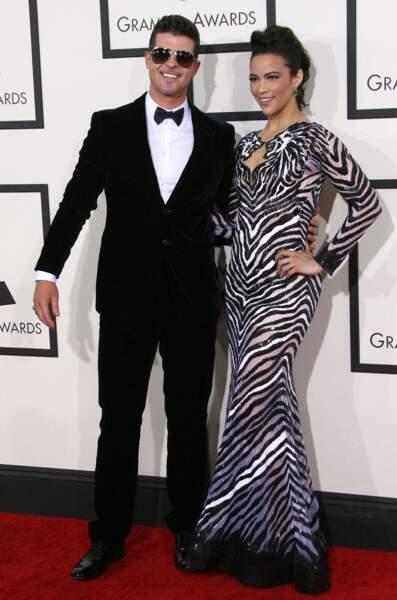 Robin Thicke et sa compagne, Paula Patton