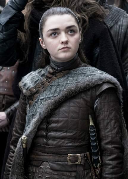 Arya Stark n'est pas là pour plaisanter, avec son regard déterminé