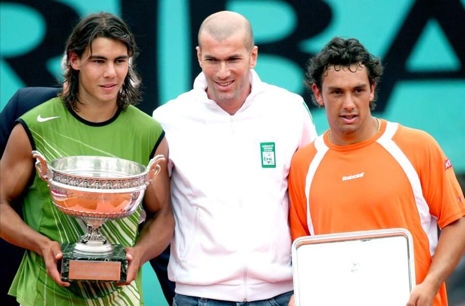 2005 : Sacré, Nadal rit avec Zizou et Mariano Puerta pleure