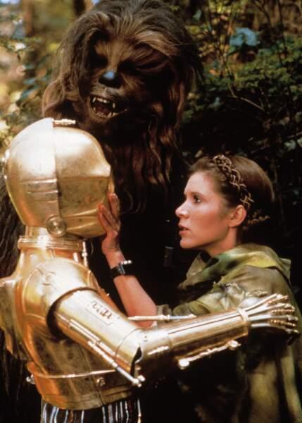 Tenue de camouflage de rigueur avec C3PO et Chewie dans le Retour du Jedi (1986)