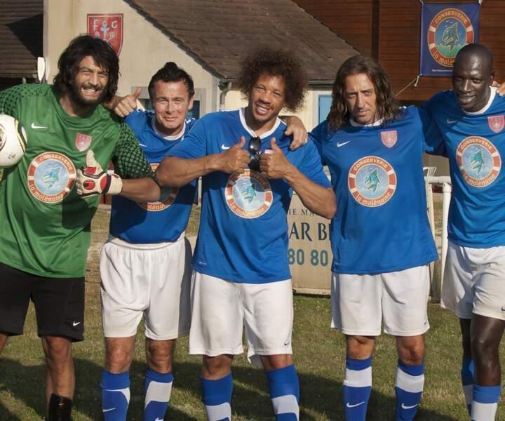 Ramzy, Franck Dubosc, Joey Starr, Gad Elmaleh et Omar Sy ont l'air heureux