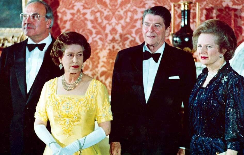 Avec Helmut Kohl, Reagan et cette Thatcher, son premier Ministre au cœur des années 1980, qu'elle déteste tant
