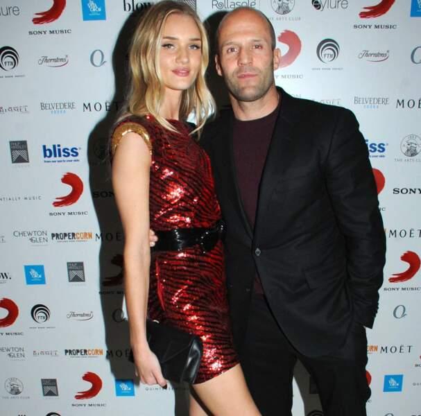 Son fiancé, Jason Statham, était évidemment aux anges...