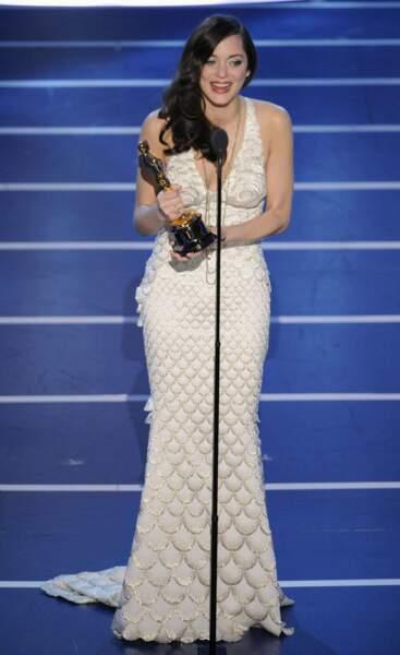 C'est en Jean-Paul Gaultier que la sirène Marion Cotillard a eu son Oscar en 2008 pour son rôle dans La Môme