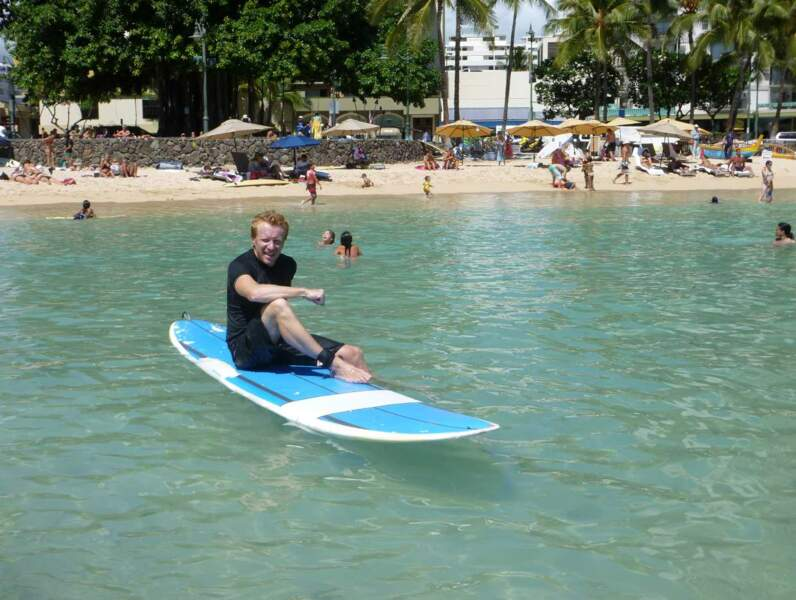 Quitte à être à Hawaï : hop, un petit coup de paddle, ça mange pas de pain...