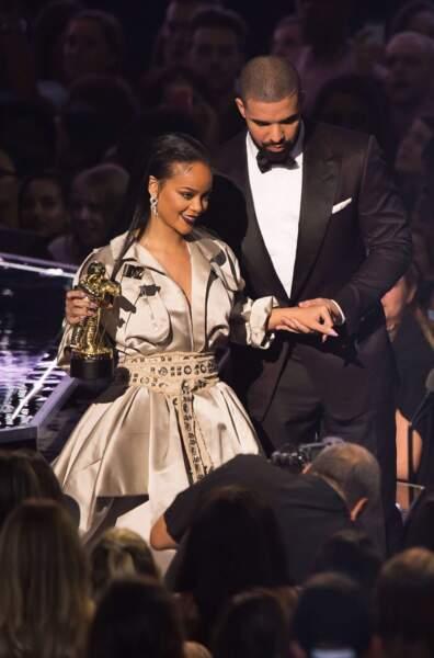 Les chanteurs Drake et Rihanna, en couple depuis cette année.