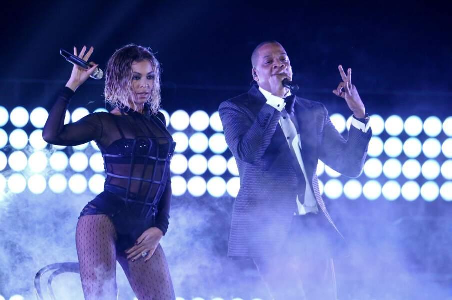 Elle a régalé l'assistance d'un duo avec son mari Jay-Z