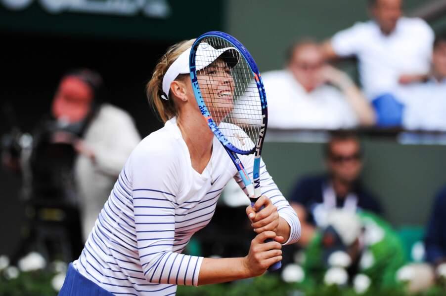 Maria Sharapova n'a pas compris les règles du jeu de cache-cache...