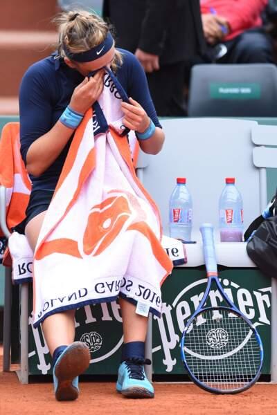 Victoria Azarenka a besoin d'un grand mouchoir pour se consoler d'abandonner au premier tour