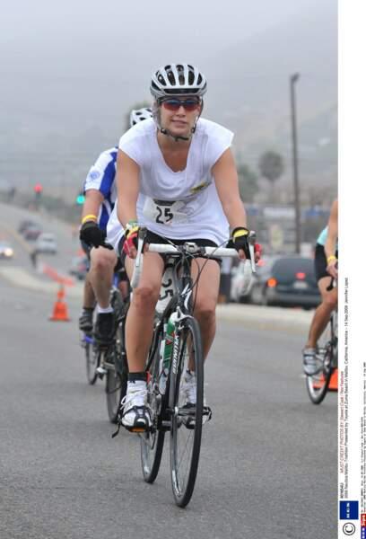 .....puis en mode cycliste à l'occasion du Nautica Triathlon de Malibu.