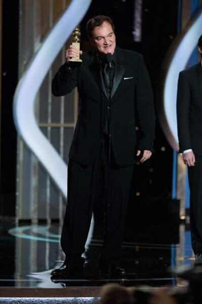 Quentin Tarantino repart avec le prix du meilleur scénario pour son western Django Unchained.