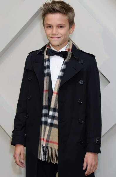 Romeo Beckham, fils de David Beckham, né le 1er septembre 2012
