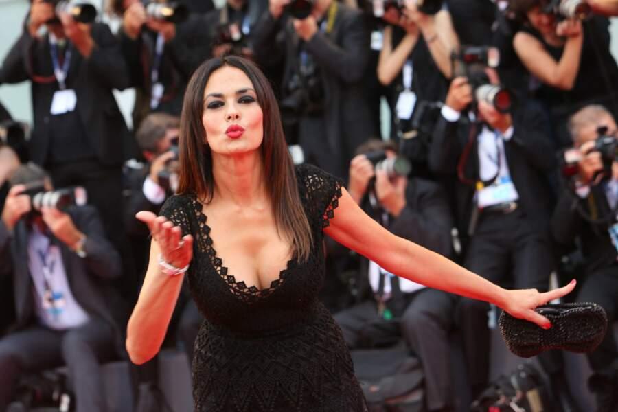 L'actrice et productrice italienne Maria Grazia Cucinotta