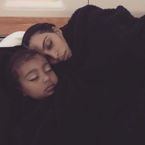 Chez Kim Kardashian, c'était en tout cas l'heure de la sieste.