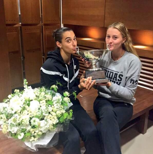 Mais Cocorico ! Les Françaiss Mladenovic et Garcia ont remporté le tournoi en double. ET OUAIS !