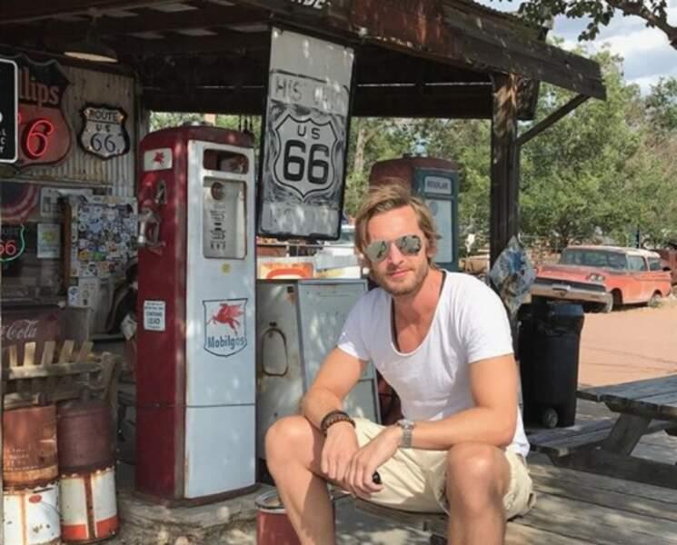 En parlant de vacances, Philippe Lacheau a fait une pause sur la Route 66.