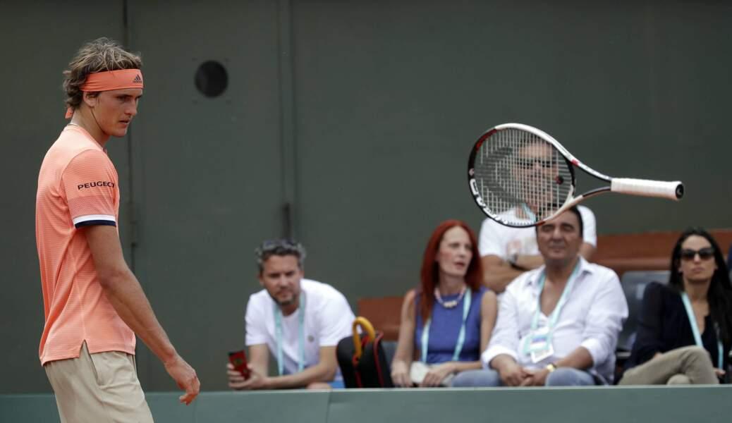Alexander Zverev en pleine séance de télékinésie ?