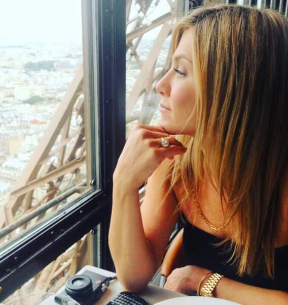 Justin Theroux et Jennifer Aniston étaient au top (de la Tour Eiffel) pour la Saint Valentin !