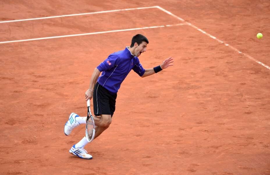 Novak Djokovic tout sourire et très décontracté...