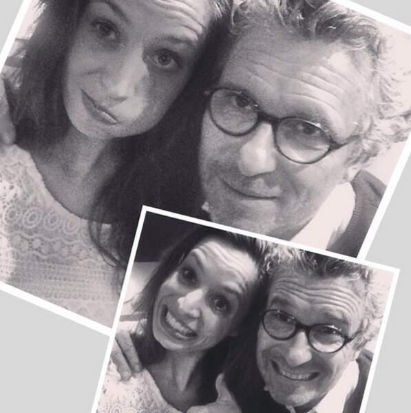 Et on termine avec la photo classe : un selfie avec Denis Brogniart !
