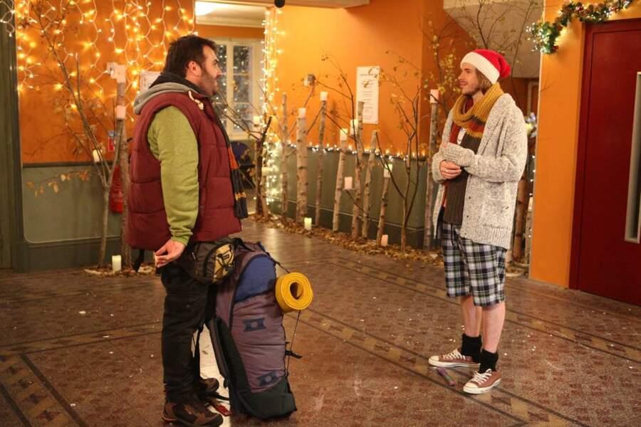 Le personnage de Camping Paradis est plus habitué au plateau de tournage