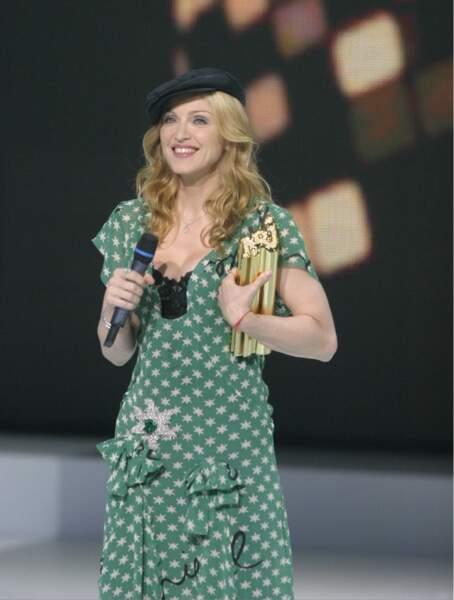 Madonna et son béret en 2004