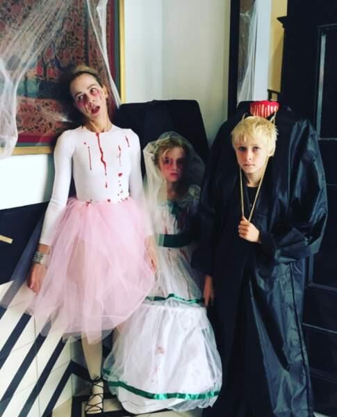 Les enfants de Noami Watts étaient heureux comme tout de fêter Halloween.