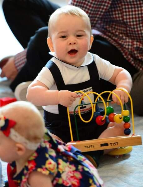 ... et joué avec ses petits camarades. Un bébé vraiment sympa !
