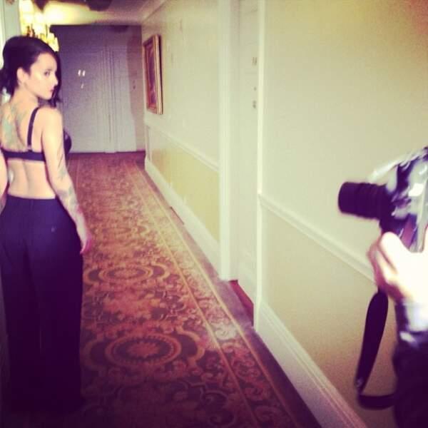 Alizée en tenue légère lors du tournage de son nouveau clip !