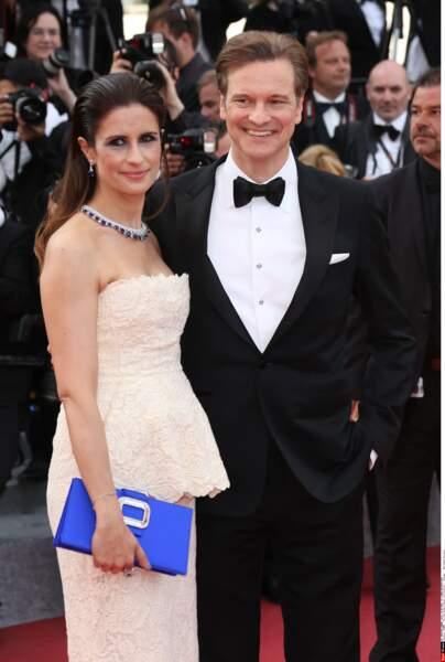 Colin Firth et sa femme Livia, sur le tapis rouge pour Loving, de Jeff Nichols