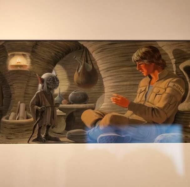 Maitre Yoda et Luke Skywalker
