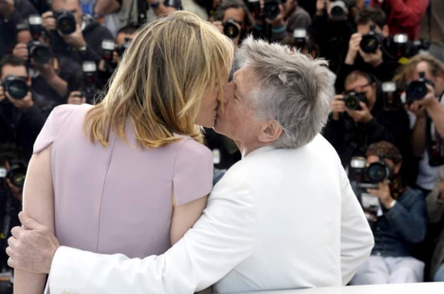 Le tendre baiser de Roman Polanski et d'Emmanuelle Seigner