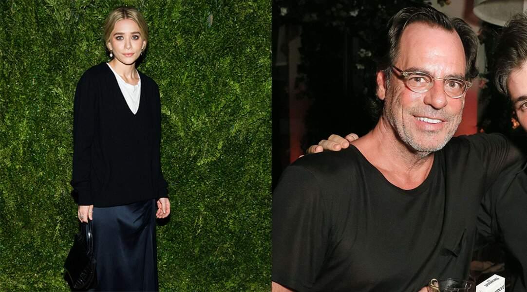 Les jumelles Olsen aiment les hommes plus âgés : Ashley Olsen et le négociant en art Richard Sachs.